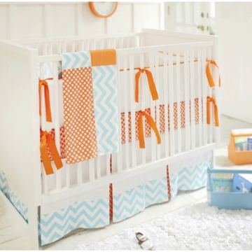 New Arrivals Orange Crush 3 Piece Crib Bedding Set