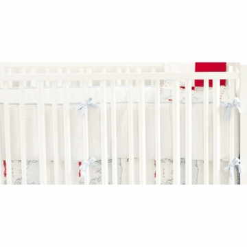 New Arrivals Out to Sea in Blue Crib Bumper