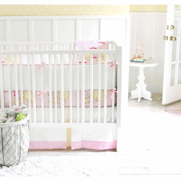 New Arrivals Out to Sea in Pink 2 Piece Baby Crib Bedding Set
