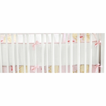 New Arrivals Out to Sea in Pink Crib Bumper