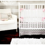 New Arrivals Peace, Love & Pink 3 Piece Baby Crib Bedding Set