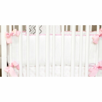 New Arrivals Peace, Love & Pink Crib Bumper