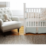 New Arrivals Picket Fence 2 Piece Baby Crib Bedding Set