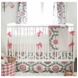 New Arrivals Ragamuffin Pink 3 Piece Baby Crib Bedding Set