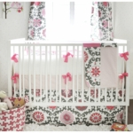 New Arrivals Ragamuffin Pink 4 Piece Baby Crib Bedding Set