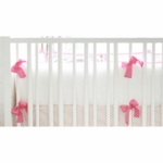 New Arrivals Ragamuffin Pink Crib Bumper
