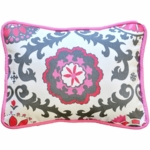 New Arrivals Ragamuffin Pink Throw Pillow - 16 x 16