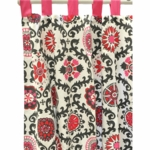 New Arrivals Ragamuffin Pink Window Panels