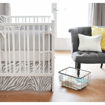 New Arrivals Safari in Gray 3 Piece Baby Crib Bedding Set