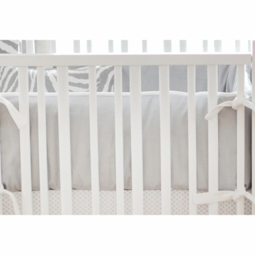 New Arrivals Safari in Gray Crib Bumper