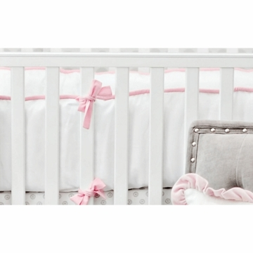 New Arrivals Stella Gray Crib Bumper