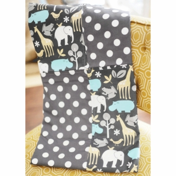 New Arrivals Urban Zoo in Grey Blanket