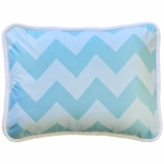 New Arrivals Zig Zag Aqua Throw Pillow - 16 x 16