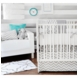 New Arrivals Zig Zag Grey 2 Piece Baby Crib Bedding Set