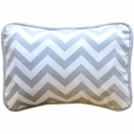 New Arrivals Zig Zag Grey Throw Pillow - 16 x 16