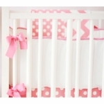 New Arrivals Zig Zag Hot Pink Crib Bumper