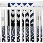 New Arrivals Zig Zag Navy Blanket