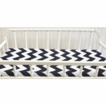 New Arrivals Zig Zag Navy Changing Pad Cover