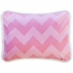 New Arrivals Zig Zag Pink Sugar Throw Pillow - 16 x 16