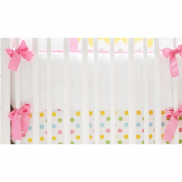 New Arrivals Zig Zag Rainbow Crib Bumper