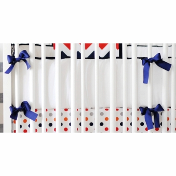 New Arrivals Zig Zag Rugby Crib Bumper