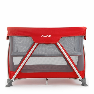 Nuna Sena Mini Travel Crib - Scarlet