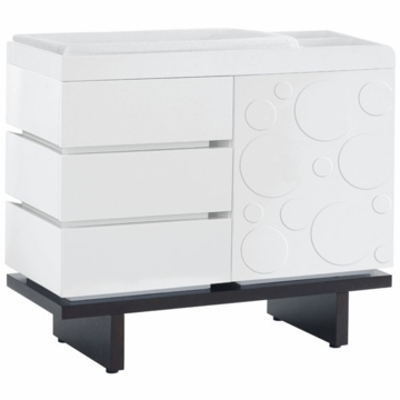 Nurseryworks 2-Wide Changer with Circle Door Pattern in White on Dark Base