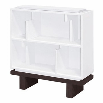 Nurseryworks Storytime Single Bookcase in White with Dark Base