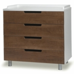 Oeuf Classic Collection 4 Drawer Dresser in Walnut