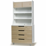 Oeuf Classic Hutch for Classic 4 Drawer Dresser in Birch