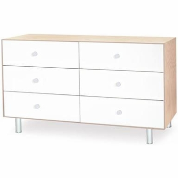 Oeuf Merlin 6 Drawer Dresser in Birch/White - Classic