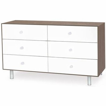 Oeuf Merlin 6 Drawer Dresser in Walnut/White - Classic