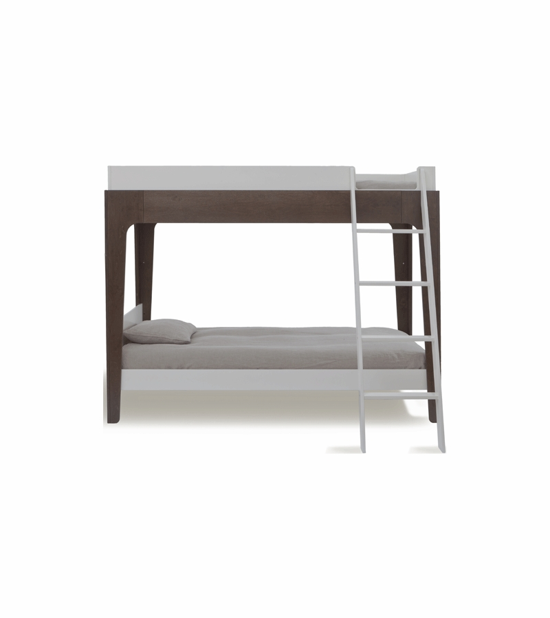 Oeuf Perch Bunk Bed: Oeuf Perch Bunk Bed In White/Walnut