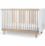 Oeuf Rhea Crib in Birch/White