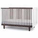 Oeuf Rhea Crib in Walnut/White