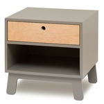 Oeuf Sparrow Collection Night Stand in Grey