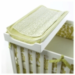 Oilo Changing Pad Cover & Topper in Spring Green