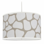 Oilo Cobblestone Large Cylinder Light in Taupe