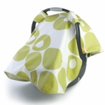 Oilo Modern Berries Car Seat Canopy in Spring Green