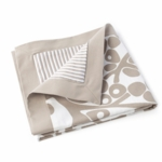 Oilo Modern Berries Play Blanket in Taupe