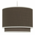 Oilo Solid Double Cylinder Light in Brown