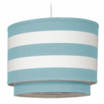 Oilo Stripe Double Cylinder Light in Aqua