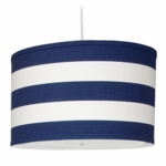 Oilo Stripe Large Cylinder Light in Cobalt Blue