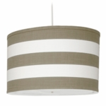 Oilo Stripe Large Cylinder Light in Taupe