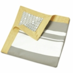 Oilo Triple Band Play Blanket in Stone & Citron