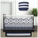 Oilo Wheels 3 Piece Crib Bedding Set in Cobalt Blue