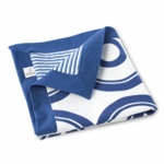 Oilo Wheels Play Blanket in Cobalt Blue