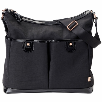 OiOi Black Balistic Hobo Diaper Bag