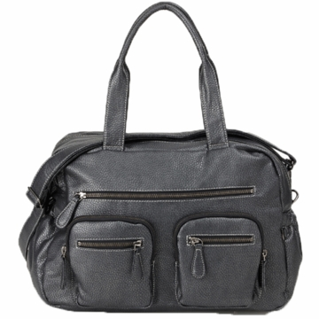 OiOi Charcoal Buffalo Carry All Diaper Bag