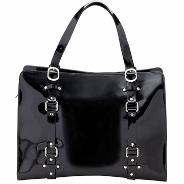 OiOi Jet Patent Leather Tote Diaper Bag